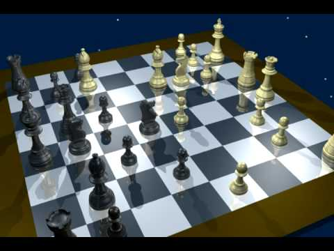 A Deep Blue chess game